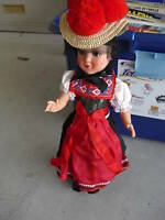 Large Vintage 1930s Celluloid Ethnic Girl Doll HD Mark