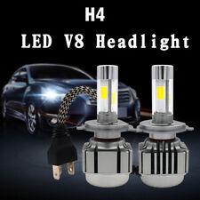 H4 9003 HB2 LED Headlight Bulb Conversion Kit High Low Beam 6000K 7600LM