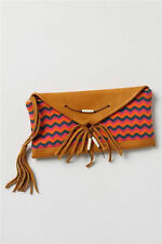 NWT Anthropologie Free People Clutch Knit Chevron Wristlet Leather Purse Bag