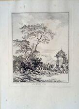 Jean-Baptiste Le Prince (1734-1781) : La basse-cour , eau-forte originale