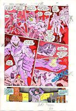Original 1980's Green Lantern 176 DC Comics color guide art page 12:Dave Gibbons