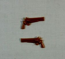 GI JOE vs COBRA 2002 2003 DR MINDBENDER V3 V4 2 x REVOLVERS GUNS ACCESSORY PART