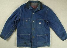 Vintage 60s Sears Roebuck Manta Ropa De Trabajo Abrigo Chaqueta Forrada Denim tarea Granero XL