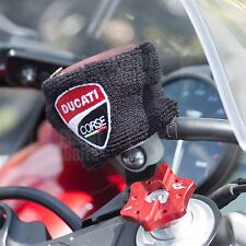 Large Black Ducati Corse Brake & Clutch Reservoir Sock Cover Motorcycle Bike