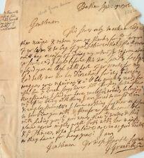 More details for vintage letter 1702 - john granville, 1st baron granville of potheridge