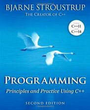 Programming: Principles and Practice Using C++ (2nd Edition) New Paperback Book