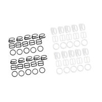 20 Sets Nylon Bra Strap Adjuster Slider/Hooks/O Ring Lingerie Sewing Craft