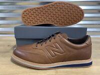 New Balance 1100 Leather Walking Shoes Brown Navy Blue Men's SZ ( MD1100LB ) NIB