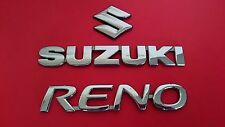 USED 2006 Suzuki Reno Rear Chrome OEM Emblem Set Logo Sign Badge (05 06 07 08)