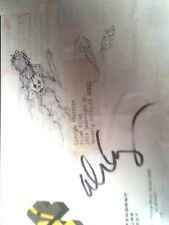 Alice Cooper Sketch Original Signed Autographed concept Drawing of stage outfit