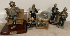 Emmett Kelly Statue Collection Big Business Executive Lawyer Paint Globe Cabbage