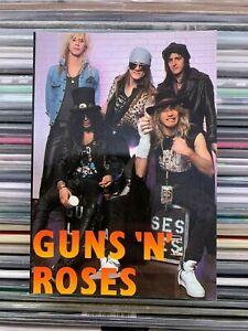guns 'n' roses - cartolina postcard - perfetta serie rock n roll n°307
