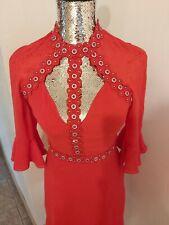 Marciano Jennifer Lopez Red cut out embellished dress wf size 8