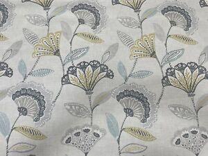 Bohemia Charcoal / Ochre Fabric By Studio G/ Clarke & Clarke