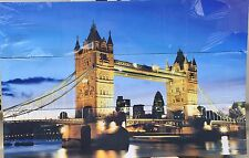 """Tower Bridge Try Pitch   33"""" x 7"""" Canvas on a wooden frame set of 3 canvas"""