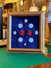 A Rare Collection of Multicolor Grand Tour Plaster Intaglios Cameo in framed