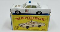 Matchbox No. 55 Police Car w/ Blue Light in Original Box