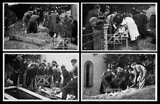 AUTOPSIE CADAVRE Exhumation 4 Photos DE LUDRE Cimetière Vichy Occupation 1940