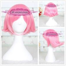 Sword Art Online/Bleach Kusajishi Yachiru 30cm pink short Cosplay hair Wig CC126