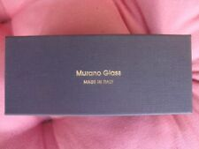 Murano Art Deco Collection Glass Wine Bottle Stopper