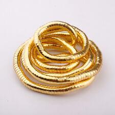 Schlangen Kette biegsam flexibel gold -farben Metall snake necklace NEU