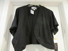KSL Women's Black 3X Short Sleeve Cover Up Cropped Shrug Sweater 3X  NWT