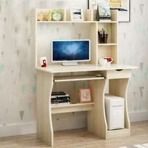 Computer Desk with Drawer Shelves Desktop PC Table Home Office Workstation Ace