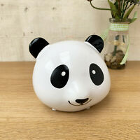Black & White Novelty Panda Bear Head Money Coin Funds Savings Piggy Bank Box