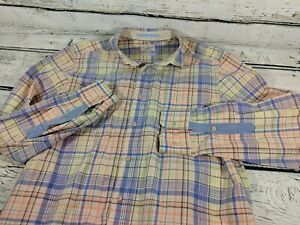 Tommy Bahama Men's Island Modern Fit Plaid Cotton LS Button Down Shirt S