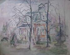 Victorian House - Barbara Hess Pugsley - Original Watercolor, Listed artist