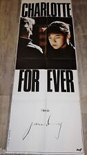 serge gainsbourg CHARLOTTE FOR EVER !   affiche cinema model rare