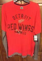 Detroit Red Wings NHL Retro Vintage 1926 Long Sleeve Shirt Men's L NWT New $62