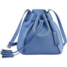 Longchamp Penelope Fantasie Drawstring Bucket Bag Blue Purse NEW  $850.00