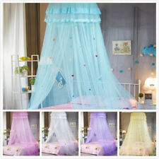 Round Dome Hung Bedding Mosquito Net Canopy Princess Lace Bed Tent Elegant