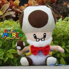Super Mario Bros Toad Old Mushroom Grandpa Toadsworth Plush Doll Toy 10 inch