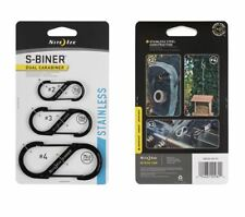 Nite Ize S-Biner Size 2, 3, 4 Black Double Gated Dual Carabiner SB234-03-01