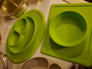 ezpz Suction Silicone Bowl & Plate & BUNKINS Suction Sectional Plate