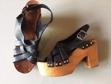 THINK Camilla 88431 noir pour femme en cuir Orthotic Sabots Mules Sandales New Cap