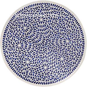 "30"" white Marble Table Top Inlay art Pietra dura lapis inlay work Home Decor"
