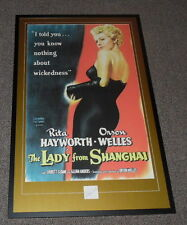 Rita Hayworth Signed Framed 27x41 Lady From Shanghai Poster Display JSA