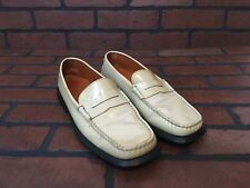 Tods Loafers Cream Patent Leather Size EU 37.5 (US 7)
