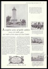 1927 Coral Gables Florida motorcycle cop fire engine firemen photo print ad