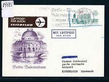 09985) DDR zudruck ga p97 30pf Berlin Interflug marrón o 1988, rara vez