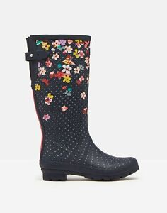 Joules Womens Printed Wellies With Adjustable Back Gusset - Adult 3