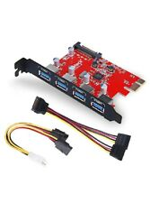 Inateck Superspeed 4 Ports PCI-E to USB 3.0 Expansion Card - Interface USB 3.0