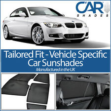 BMW 3 Series 2dr 05-12 UV CAR SHADES WINDOW SUN BLINDS PRIVACY GLASS TINT BLACK