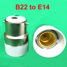 Bayonet BC B22 To Small Screw SES E14 Light Bulb Adaptor Lamp Converter Holder