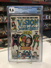 VISON and the SCARLET WITCH V2 #12 (Comics, 1986) CGC 9.6 ~ White Pages