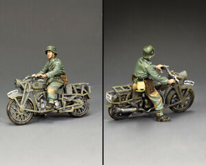 KING & COUNTRY WW2 GERMAN ARMY WH096 NORMANDY MOTORCYCLE DISPATCH RIDER