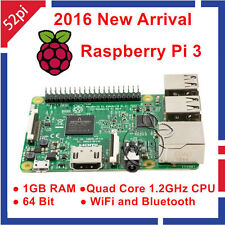 Raspberry Pi 3 Model B Board 1gb RAM Quad Core 64bit CPU 1.2ghz WiFi Bluetooth